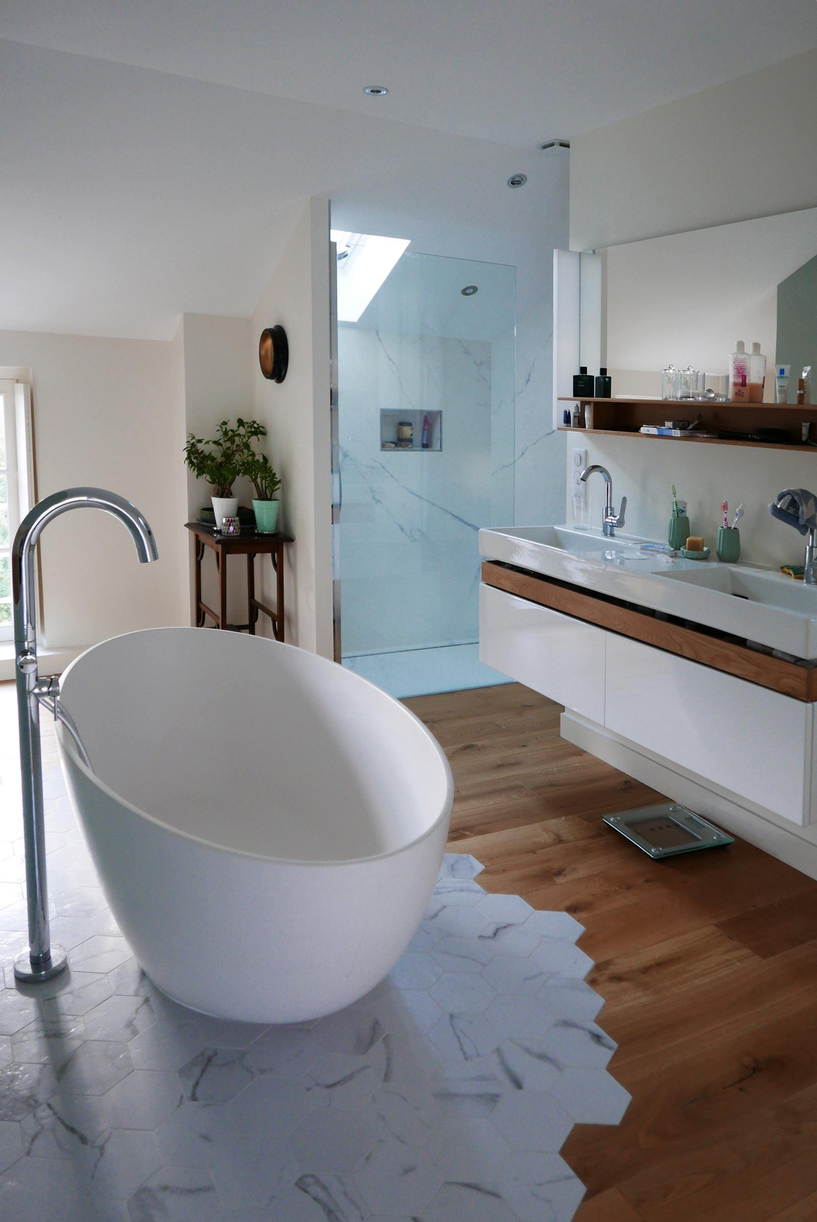 salle de bain surélévation
